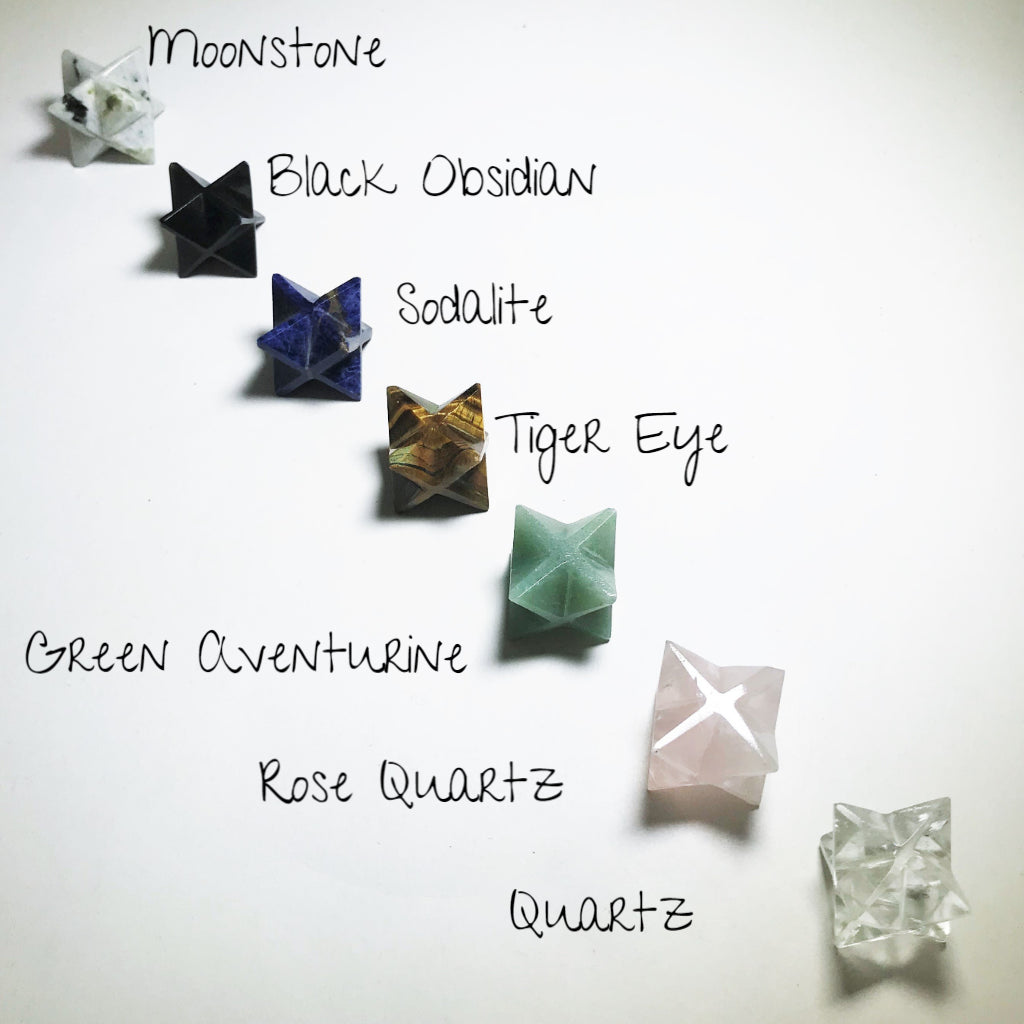 Merkaba with Gemstone Option