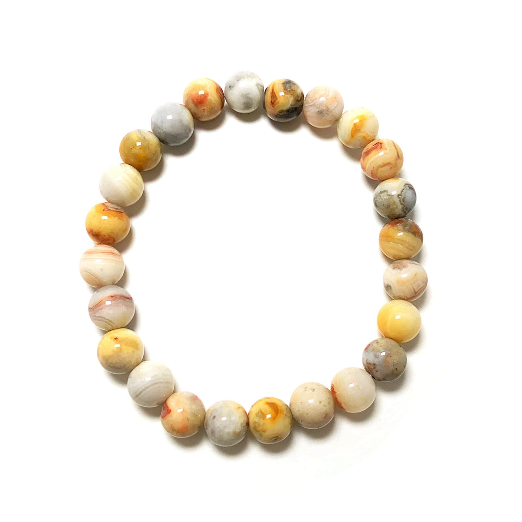 Natural Crazy Lace Agate Beaded Bracelet
