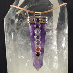 Necklace Chakra Amethyst Point