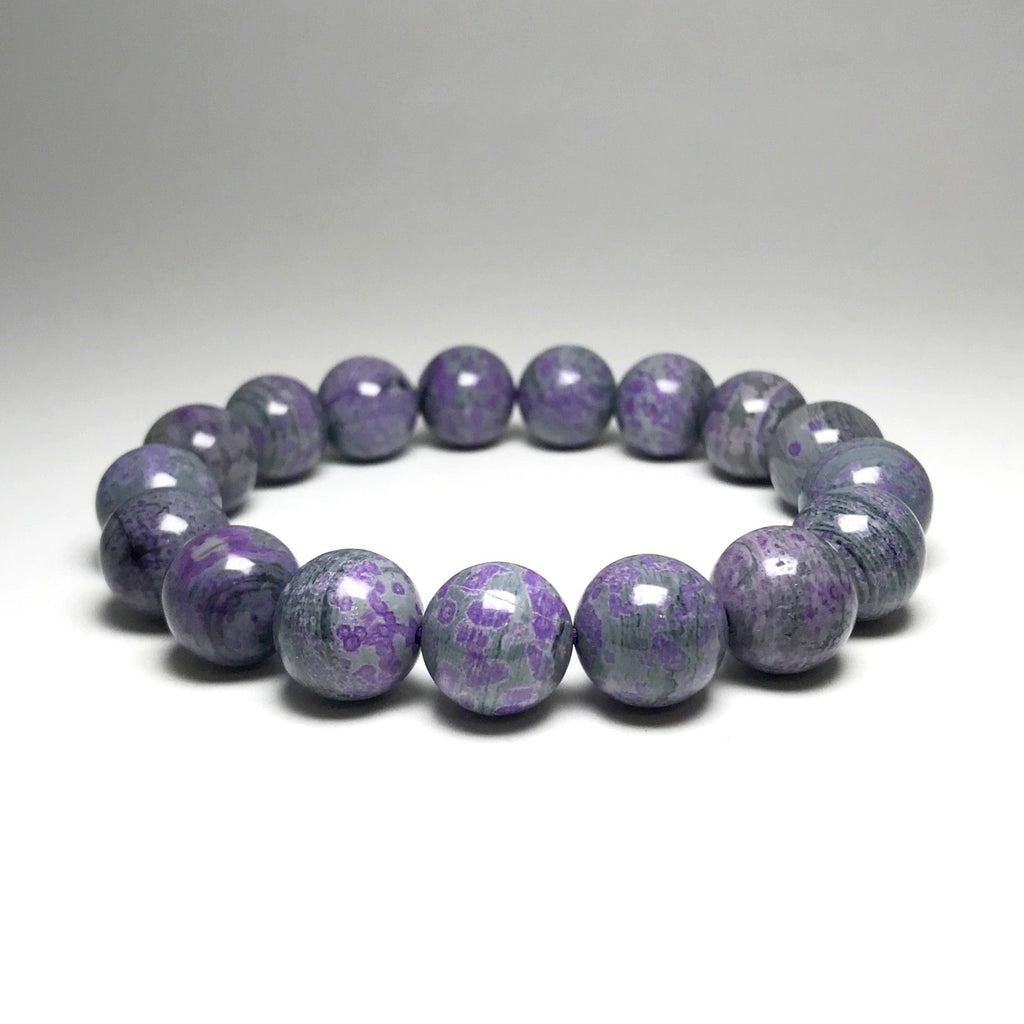 Sugilite Beaded Bracelet - 12mm