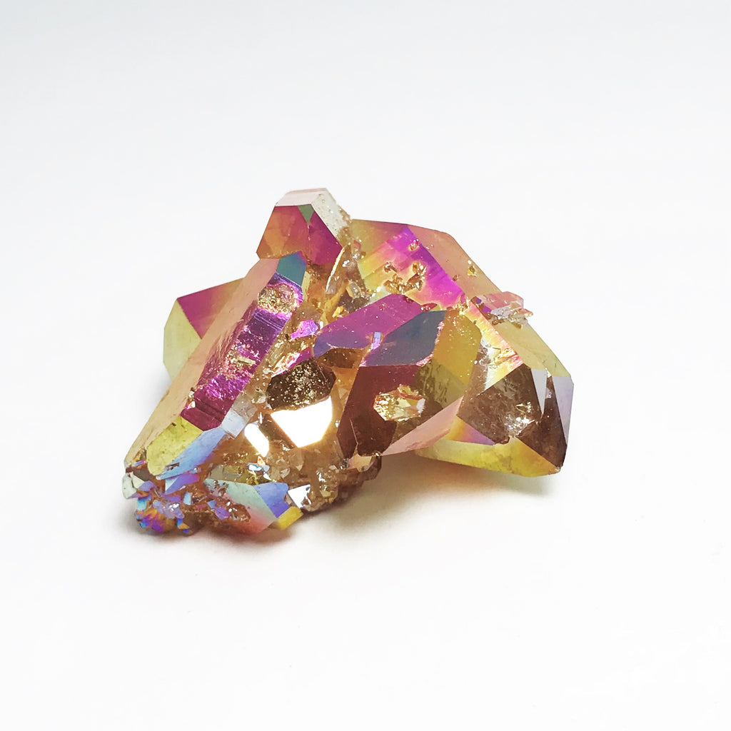 Sunset Aura Quartz Cluster