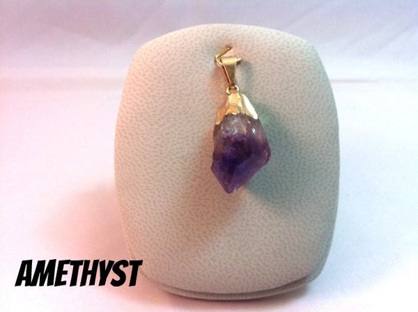 Pendant Amethyst Drop Gold Plated