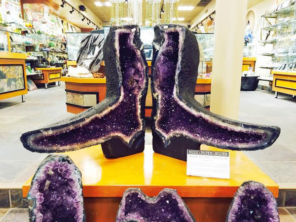 Amethyst Geode Cowboy Boots