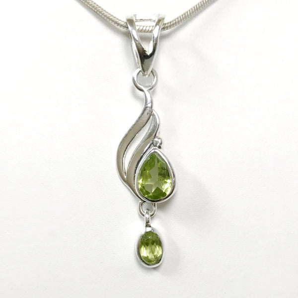 Peridot Faceted Pendant