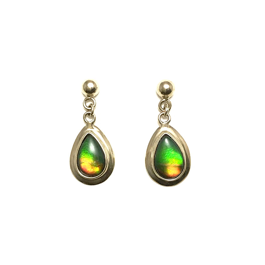 Alberta Ammolite 14K Gold Stud Earrings