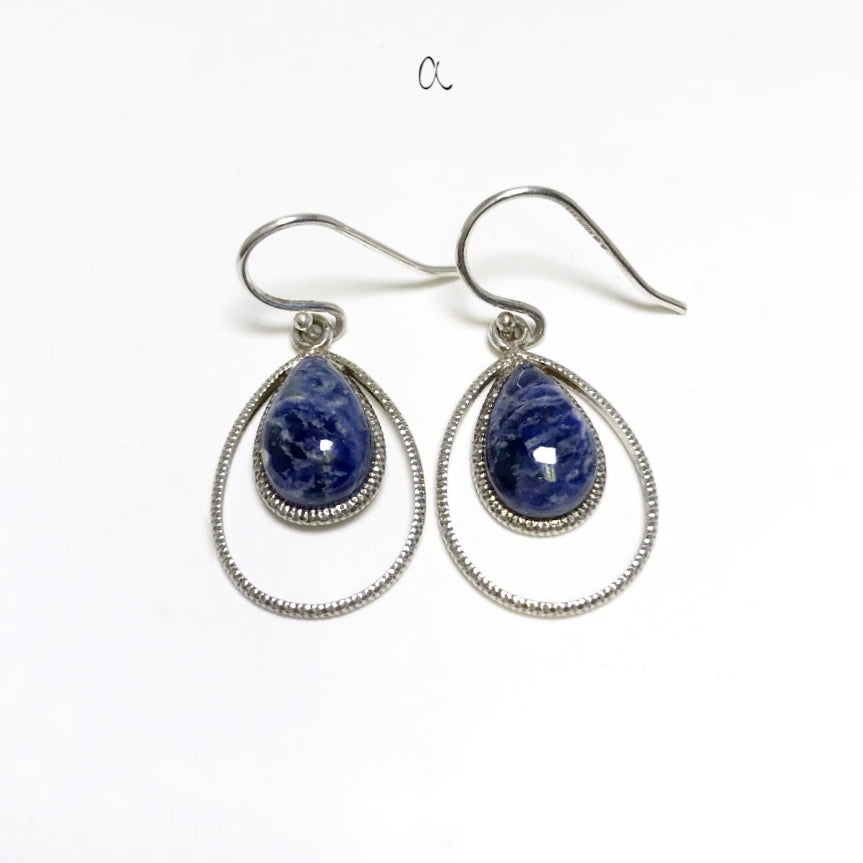 Sodalite Dangle Earrings