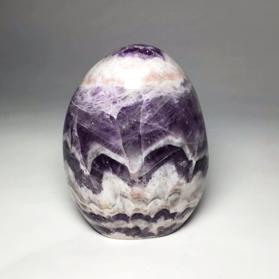 Chevron Amethyst Freeform Stand Up