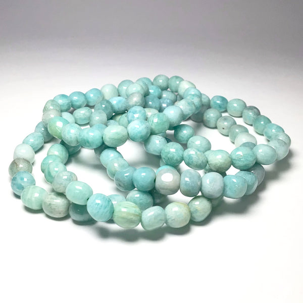 Amazonite Nugget Beaded Bracelet