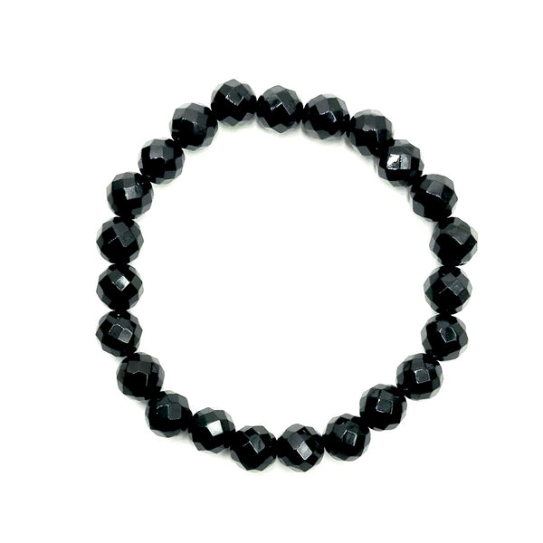Black Onyx Faceted Beaded Bracelet