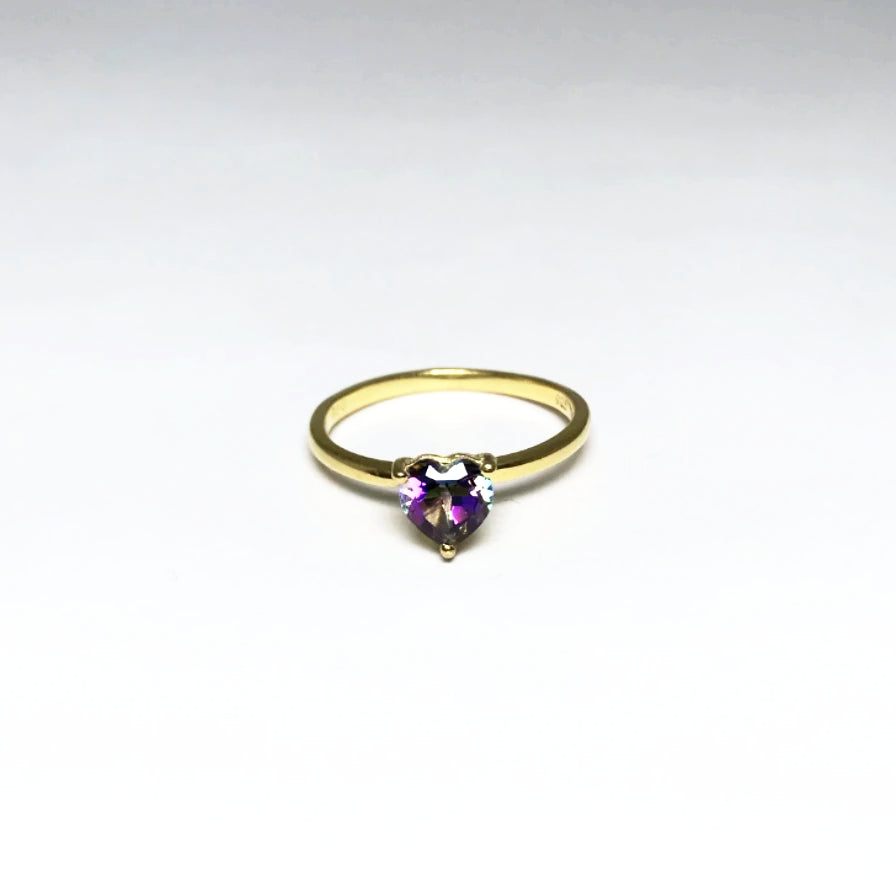 Mystic Topaz Heart Ring