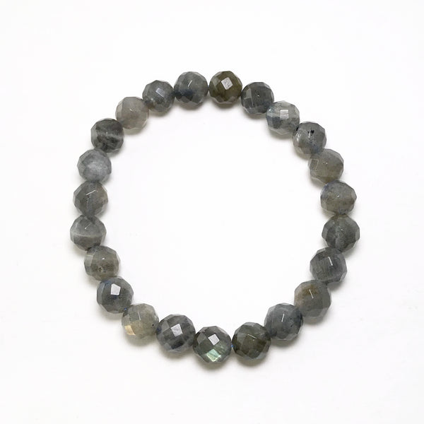 Labradorite Faceted Beaded Bracelet - High Quality