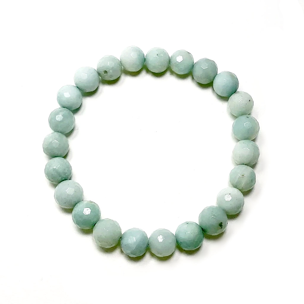 Amazonite Faceted Beaded Bracelet - High Quality
