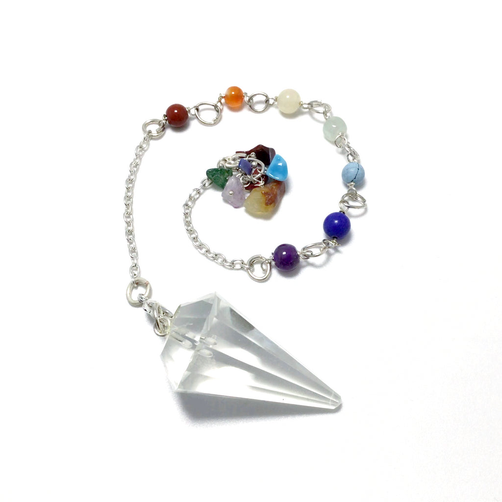 Quartz Pendulum with Chakra Bracelet Conversion