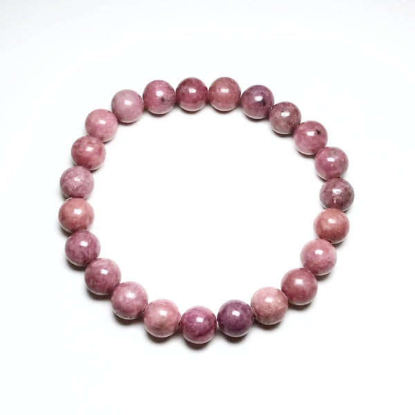 Rhodonite - Pink Beaded Bracelet