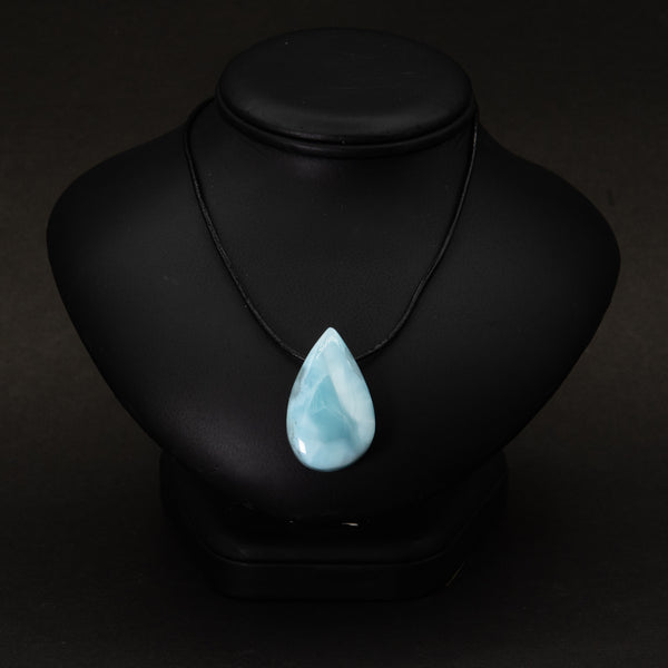 Larimar Drilled Pendant
