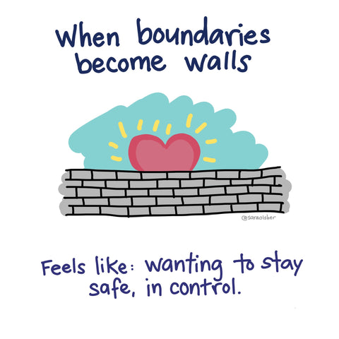 When boundaries become walls, it feels like: wanting to stay safe and in control