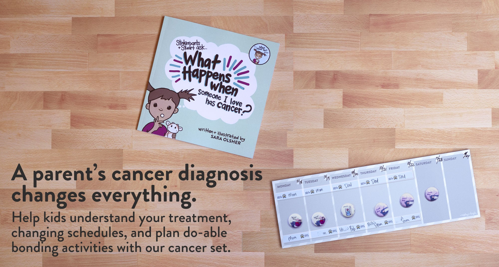 Explain a parents' cancer diagnosis changes everything. Help kids cope.