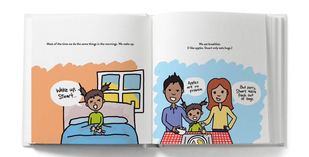 Children's book to explain transitions related to divorce