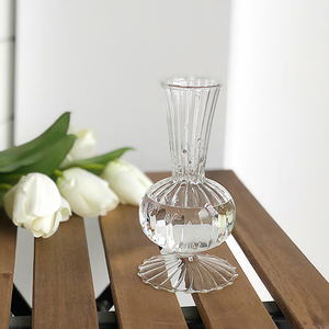 stripe clear vase
