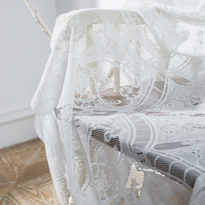 vintage french lace tablecloth