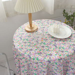 colorful flower tablecloth