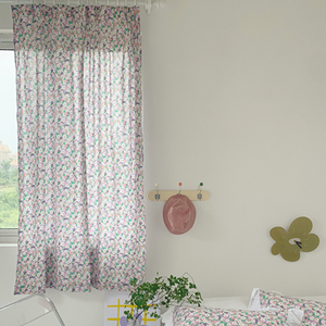 colorful flower curtain