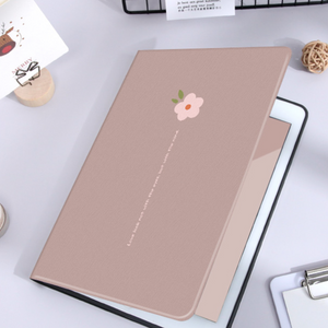brown flower iPad case