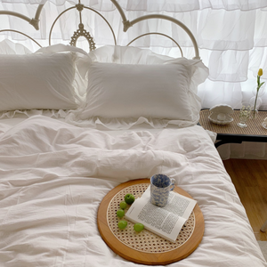 simple frill bedlinen set