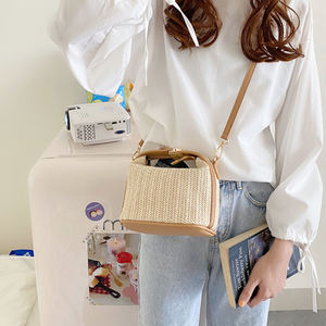 mini straw shoulder bag