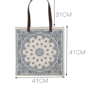 ethnic design canvas bag