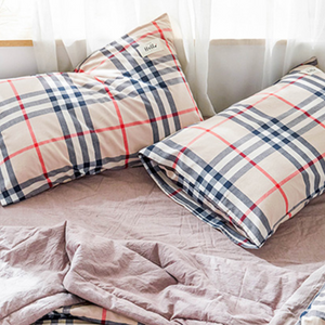 tartan check summer bedlinen set