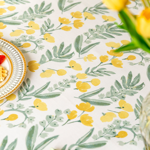 fresh yellow flower tablecloth
