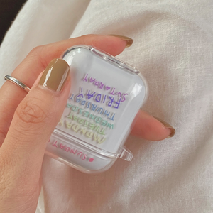 rainbow clear day Airpods case