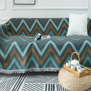wave design reversible sofa cover
