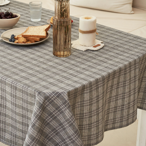 3color casual check tablecloth