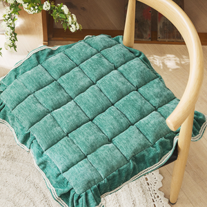 3color chair frill cushion
