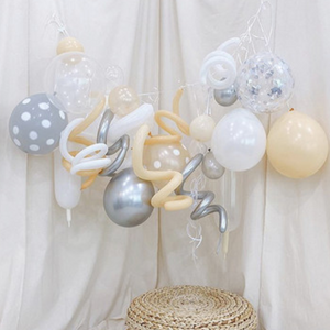 beige party balloon set