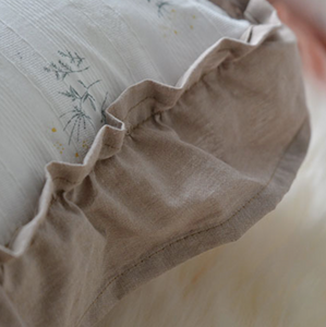 cotton flower frill cushion