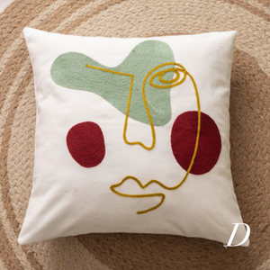 face art unique cushion