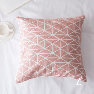 pink embroidery cushion