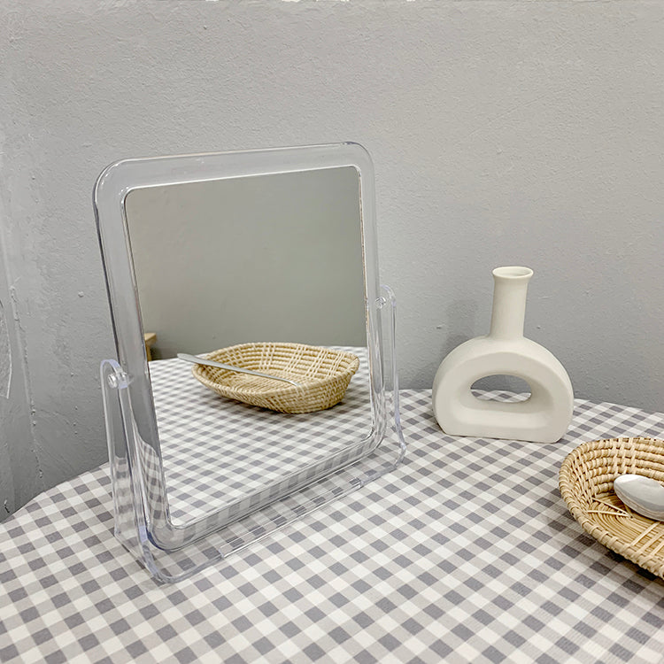 clear square mini mirror