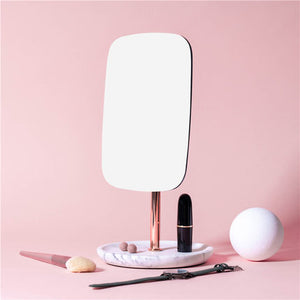 marble square stand mirror