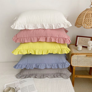 simple frill quilt & pillow sheets set