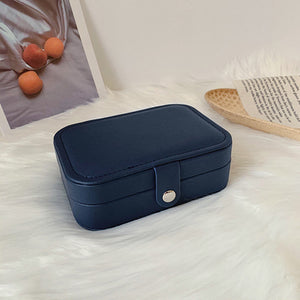 4color leather jewelry box