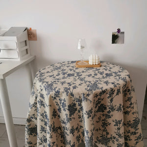 french blue tablecloth