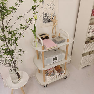 2size white trolley