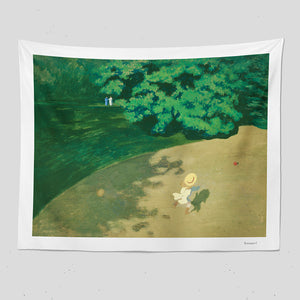 forest girl tapestry
