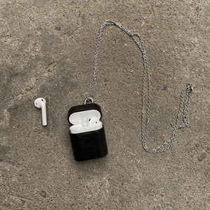 leather chain Airpods case