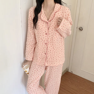 cherry cotton 3color roomwear
