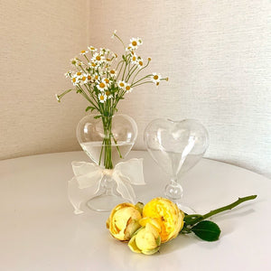 heart mini clear vase